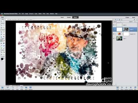Stencil Paint Effect Photoshop Elements