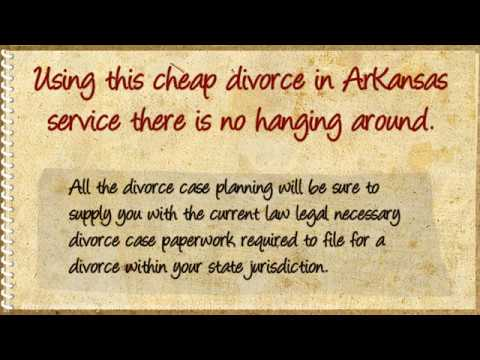 How To Get A Cheap Divorce in Arkansas