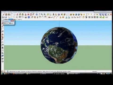 How to create a sphere on google sketchup. English subtitles