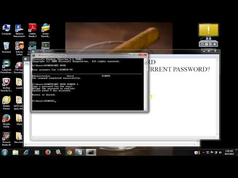 how to change windows password using command prompt in windows 7