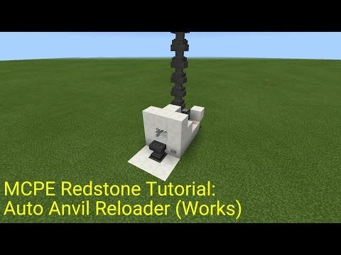 Minecraft Pocket Edition Redstone Tutorial: Auto Anvil Reloader (MCPE  1.0.5)