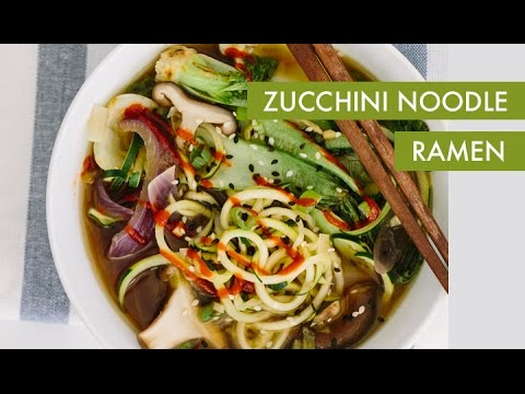 Zucchini Noodle Ramen I Vegan Spiralizer Recipe