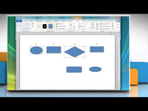 How to create a Flow Chart in Microsoft® Word 2010