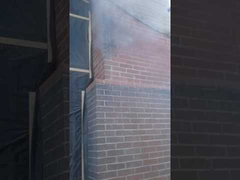 Baking Soda Removing Fire Soot Damage Off Brick Chimney
