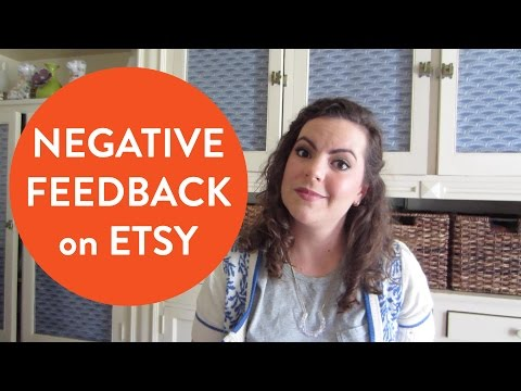 Negative Feedback on Etsy - What to Do if you Get a Bad Review