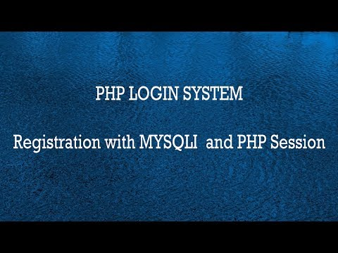 Registration and Login System with PHP and MySQLI