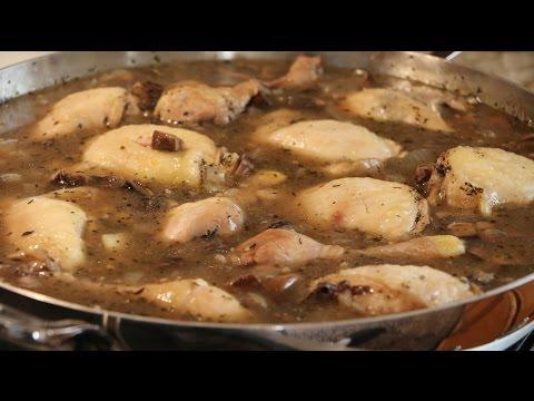 Chicken w/ White Wine & Mushroom Sauce