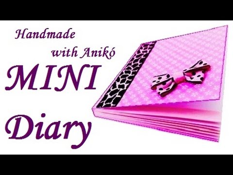 How to make mini DIARY