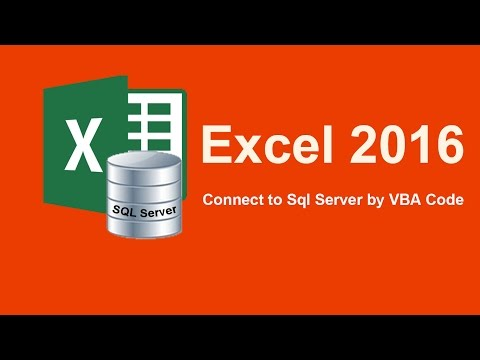 How to connect excel to sql server by VBA Code, fix ADODB
