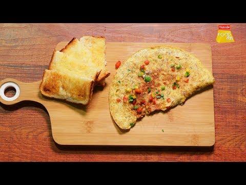 Oats Omelette | Masala Oats Omelette | ओट्स आमलेट | Mixed Vegetables Oats Omelette | Food Tak
