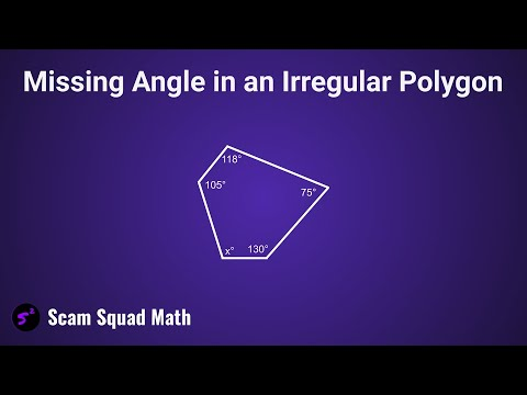 Missing Angle in an Irregular Polygon