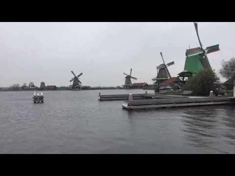 This is Zaanse Schans windmills Amsterdam