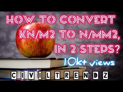CIVIL ENGG UNIT CONVERSION in SIMPLE, HOW? (KN/m2 to N/mm2)