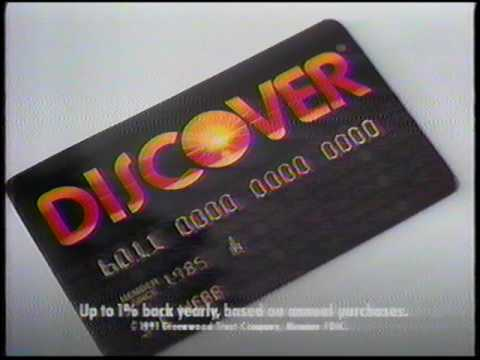 Discover Card - Pays Cash Back - 1980s