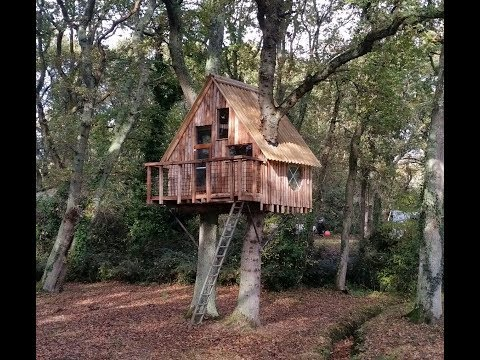 Awesome Pallet tree house from reclaimed materials