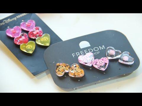 DIYสอนการทำต่างหูเรซิ่นHow to make Resin Earrings Jewellery