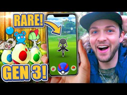 The RAREST POKEMON in Pokemon GO GEN 3! (NEW EGGS)
