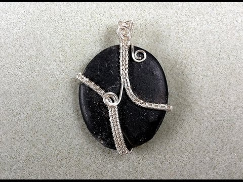 Wire wrapped Sea Slate Pendant Tutorial by Pat Langfield
