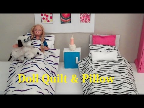 How to Make Barbie Doll Quilt & Pillow - (DOLL CRAFTS)