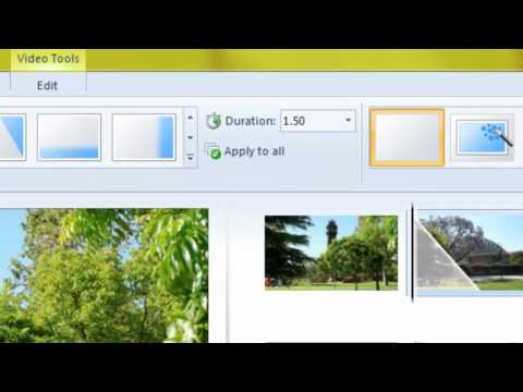 Windows Live Movie Maker: Transitions