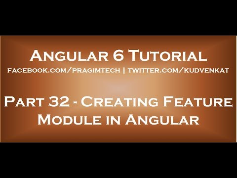 Creating feature module in angular