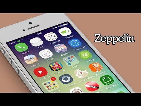 Zeppelin - Custom Carrier Logo iOS 7 Tweak (Cydia)