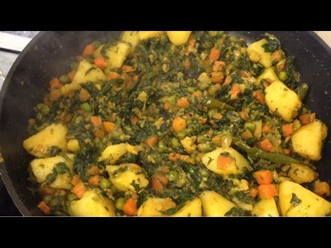 How to make Mixed Vegetables with Spinach