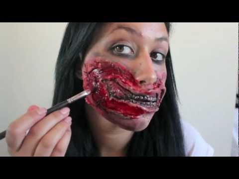Zombie Mouth Halloween Makeup Tutorial -- The Walking Dead Inspired