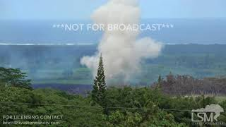 5-14-2018 Pahoa, Hi Fissure 18 eruption looks like bombs are being dropped in paradise