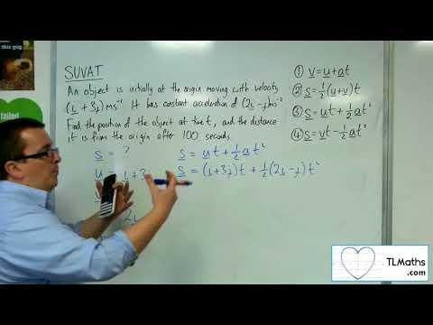 A-Level Maths 2017 Q3-16 SUVAT: 2D Example 3