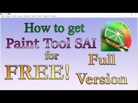 How to get Paint Tool SAI for Free! [Full Version] 2018