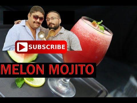 Melon Mojito Mocktail recipe at home   Melon Smoothie - Dessert Drink /Watermelon Mojito Recipe