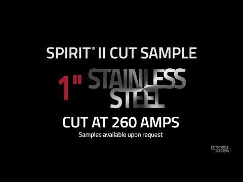 "Spirit® II Plasma Cut Sample, 1"" Stainless Steel Cut at 260 AMPS"