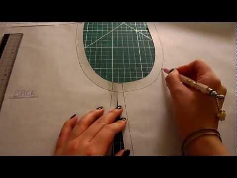 Pattern Cutting Tutorial: How To Eliminate Back Yoke Darts Off A Shirt