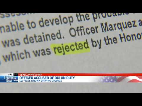 DA files charge against officer suspected of DUI on duty