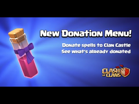Clash of Clans - Spell Donations! (Town Hall 11 Update)