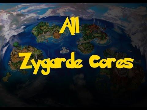 All Zygarde Cores (Pokemon Sun/Moon)