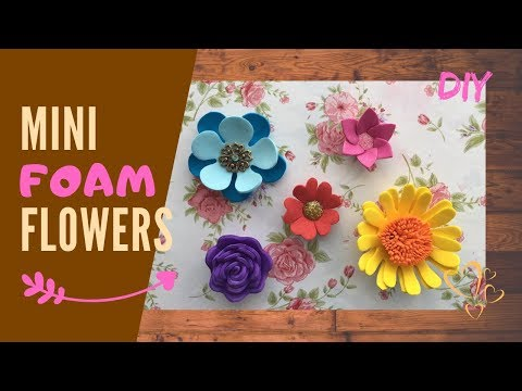 Mini foam flowers! Easy & quick decoration ideas for beginners!