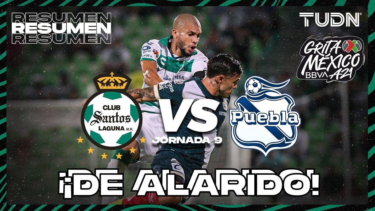 Resumen y goles   Santos vs Puebla   Grita México BBVA P2021 - J9   TUDN