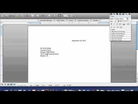 How to Create A Business Letter