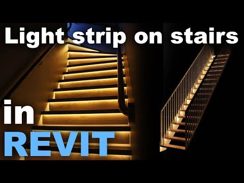 Light Strip in Stairs in Revit Tutorial