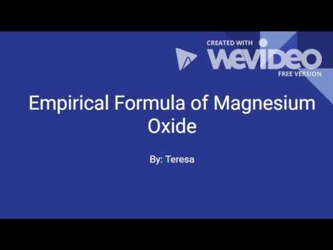 Empirical Formula of Magnesium Oxide (Teresa HSA)