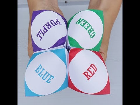 How to make   Paper Fortune Teller.