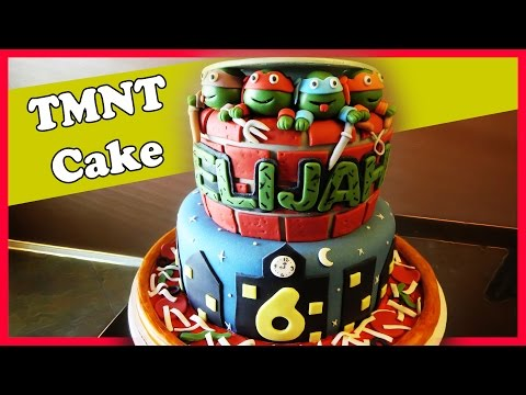 Making a Ninja Turtle Cake
