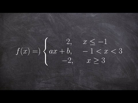 Calculus - Find the value makes a piecewise function continuous with system of equations