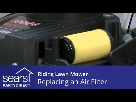 Replacing an Air Filter on a Riding Lawn Mower