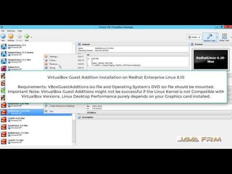 VirtualBox Guest Addition Installation on Redhat Enterprise Linux 6.10   VirtualBox 5.2