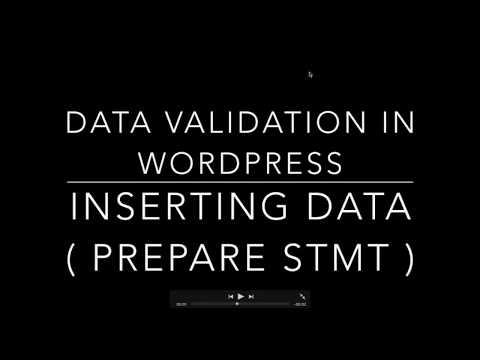 WORDPRESS DATA VALIDATION INSERT DATA USING $wpdb prepare( )