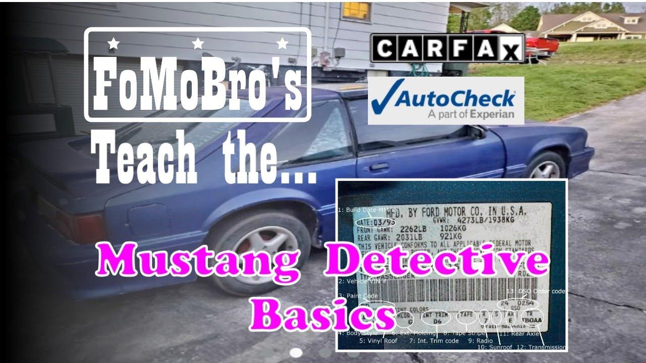 Foxbody Mustang Door Sticker Decoder and VIN Report (Fox Body Detective Basics)