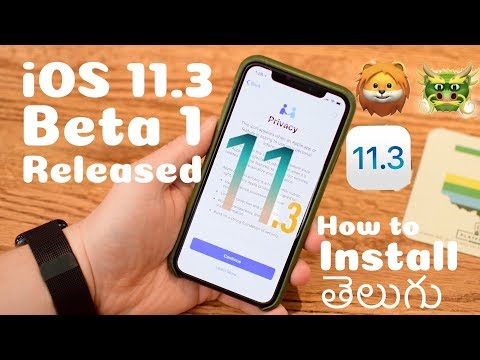 How To Install iOS 11.3 Beta 1 FREE (No Computer) - iPhone, iPad & iPod Touch in Telugu